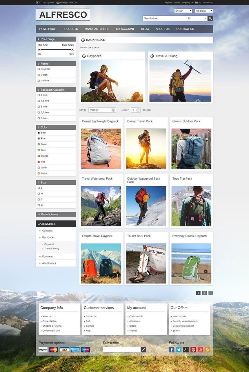 تصویر 2 تم ناپ کامرس - alfresco-responsive-theme-for-nopcommerce