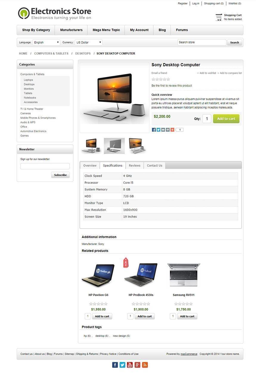 تصویر 3 تم ناپ کامرس - Electronics-responsive-theme-for-nopcommerce