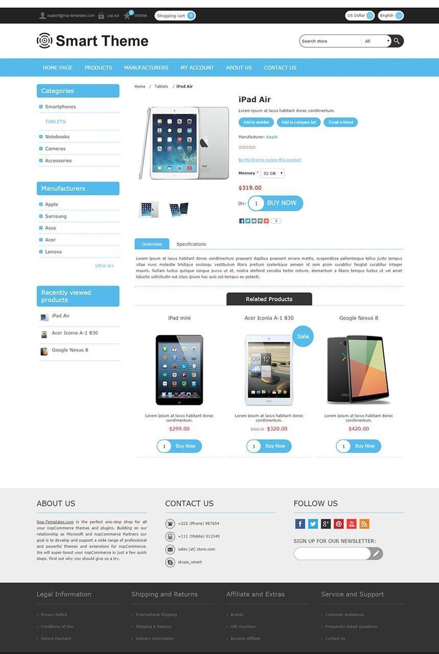 تصویر 3 تم  ناپ کامرس - smart-responsive-theme-for-nopcommerce