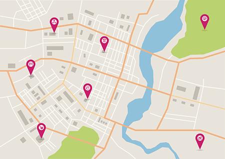 تصویر از نمایش فروشنده ها بر روی نقشه